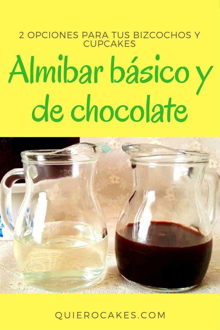Almibar básico y de chocolate