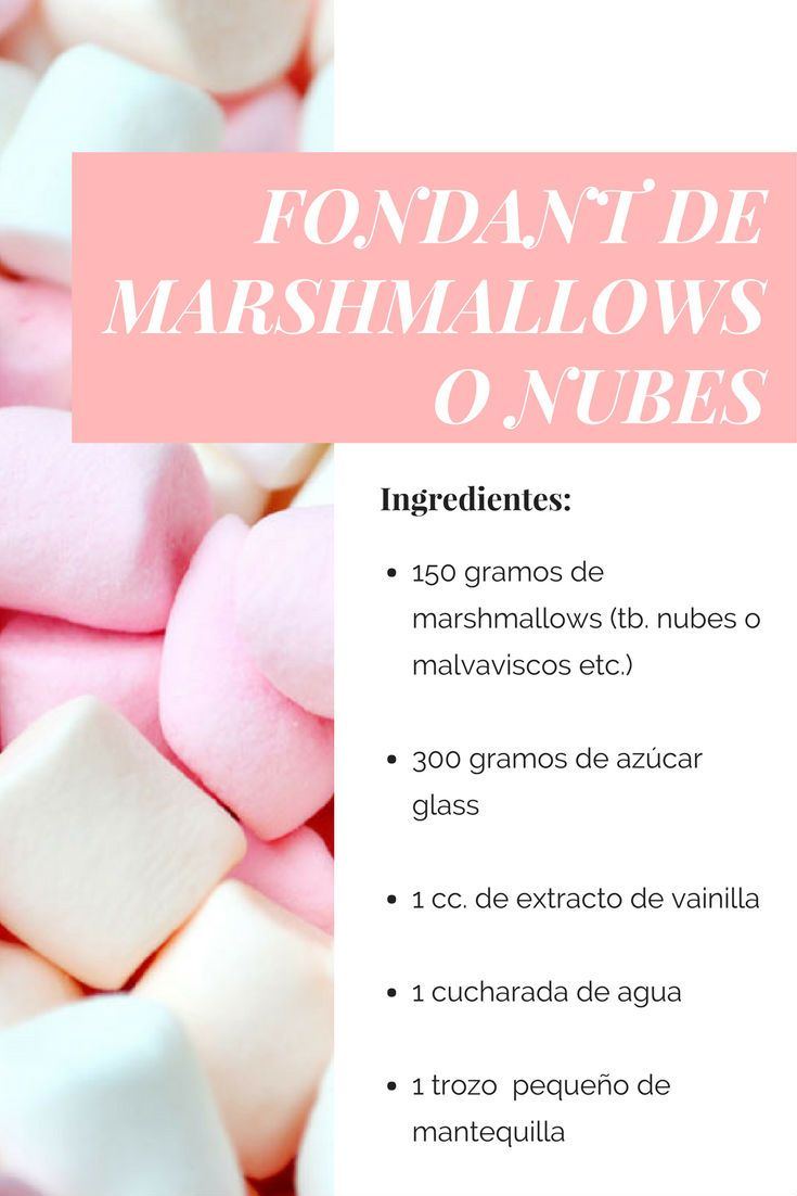 Fondant de marshmallows o nubes