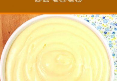 Crema pastelera de coco