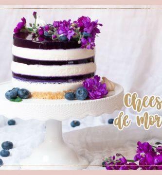 cheesecake de arándanos o mora azul