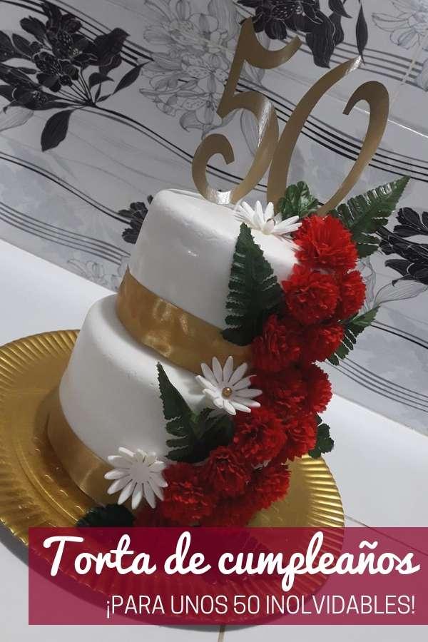 Torta de cumpleaños de 50 por Francisca Delvalle