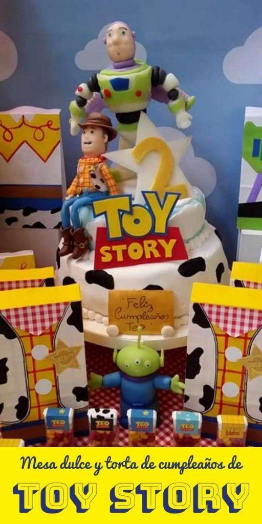 Torta y mesa dulce cumpleaños de Toy Story por Clau Di