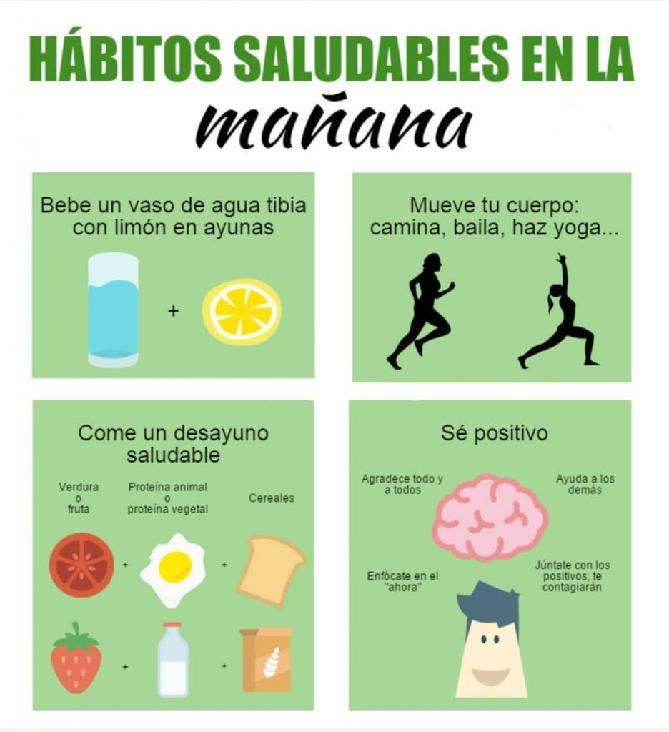 Hábitos saludable info