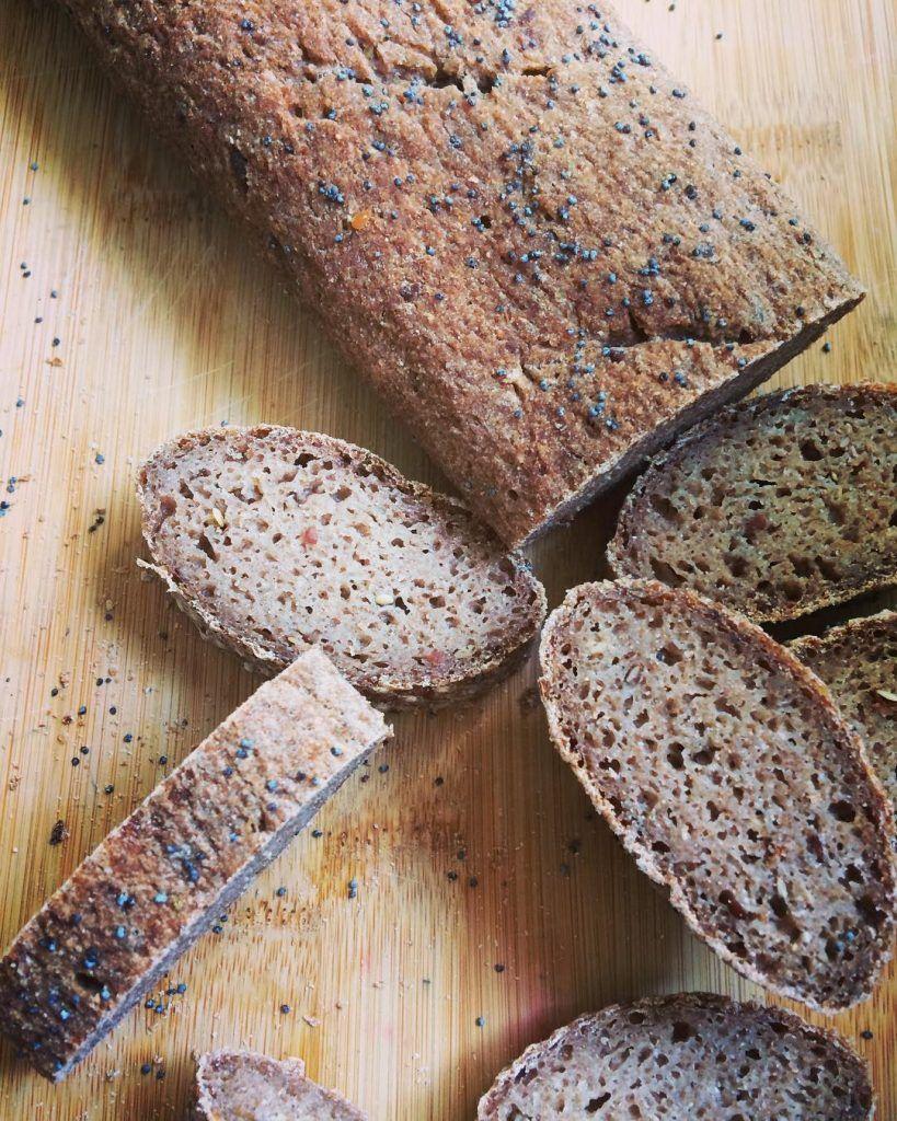 Pan de teff con semillas