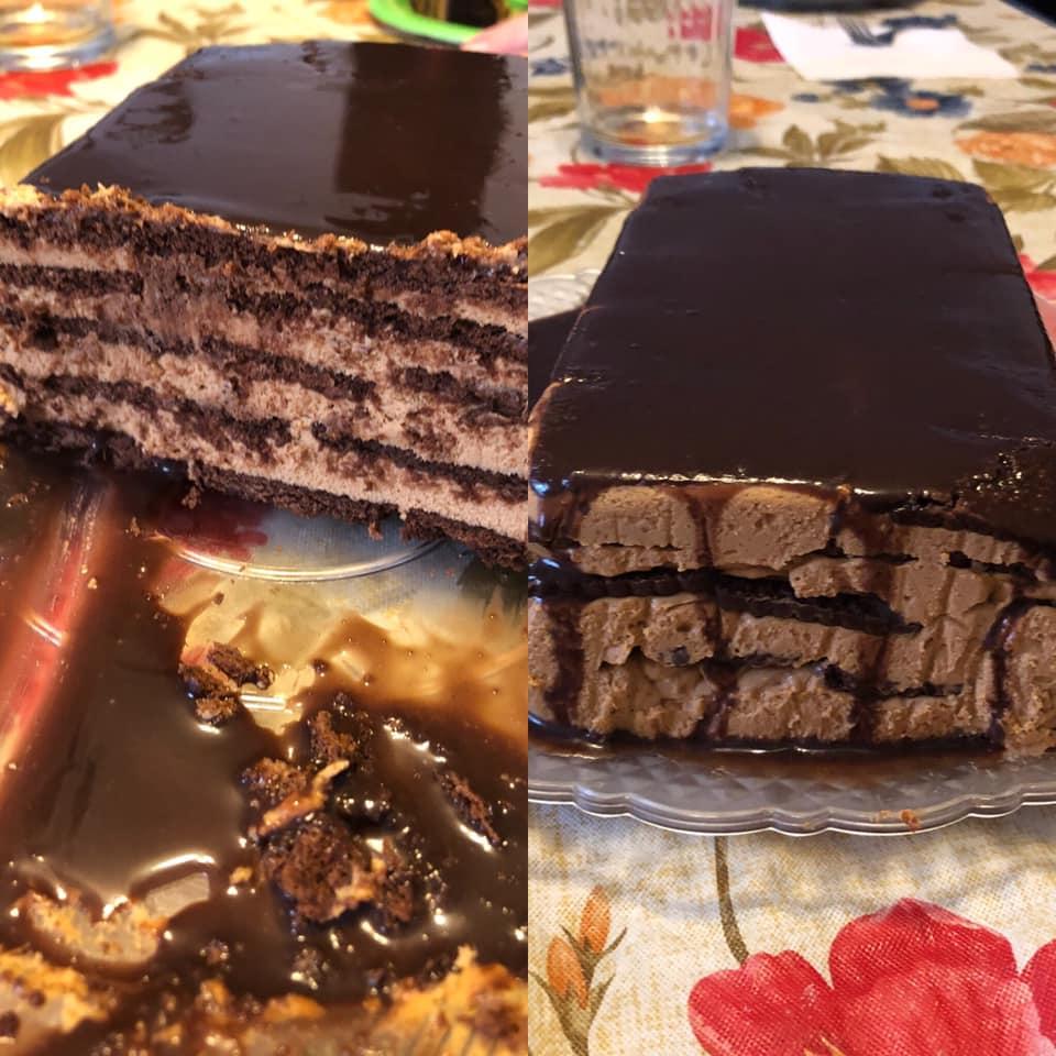 Chocotorta cubierta con ganache de chocolate por Carina Silvana Pirani
