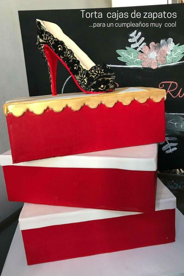 Torta de cumpleaños cajas de zapatos por Miriam Mazza