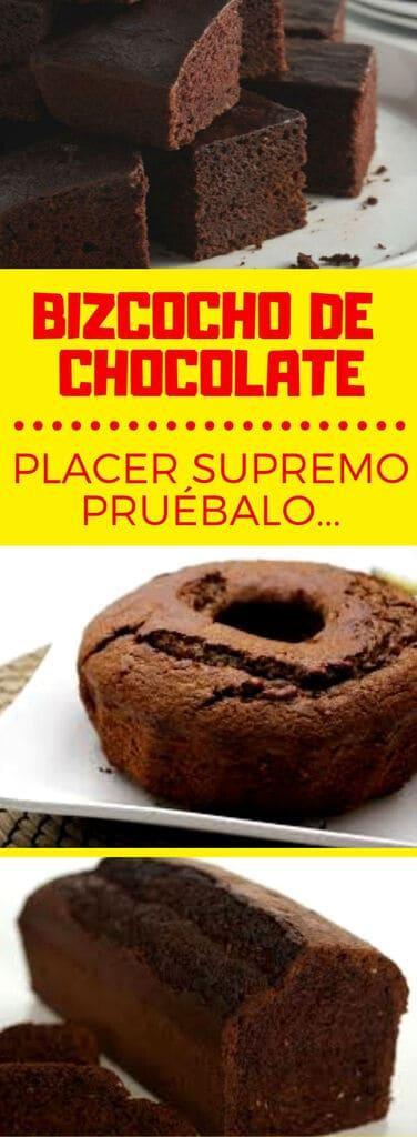 Buzcochuelo o bizcocho de chocolate receta supremo