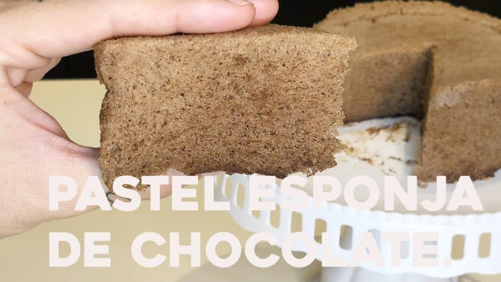 Pastel esponjoso de chocolate