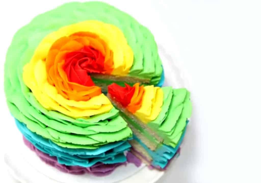 Tarta arco iris