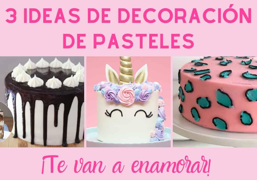 Ideas de decoración de pasteles