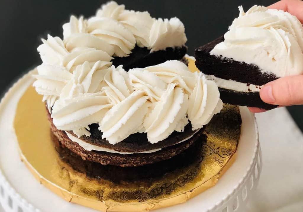 Pastel de chocolate solo con 1 huevo