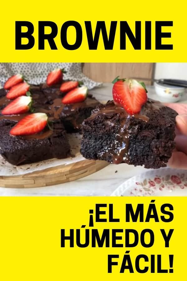 Brownie el más húmedo y fácil pt