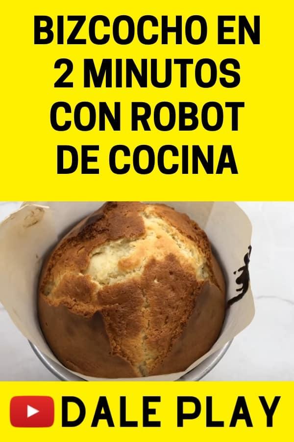 Bizcocho en 2 minutos con robot de cocina