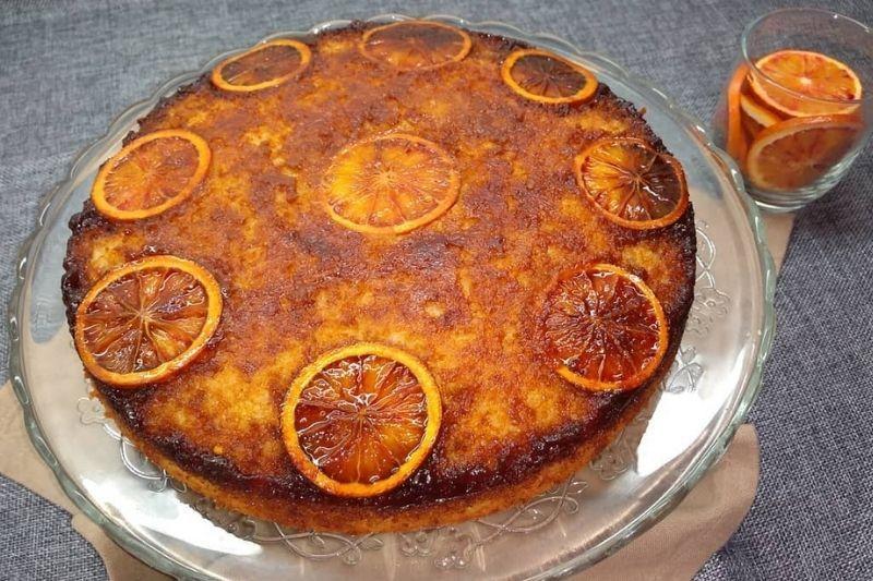 Tarta de naranja invertida