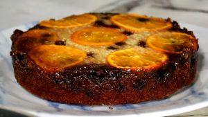 Tarta de naranjas caramelizadas