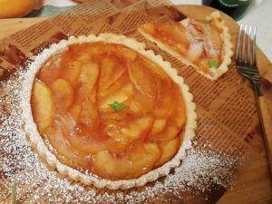 Tarta de gelatina de durazno