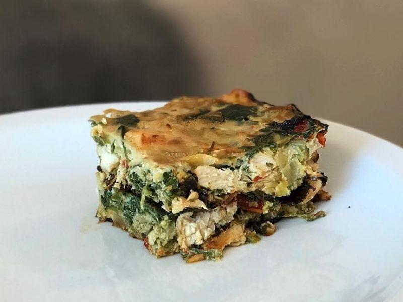 Tarta de verduras sin masa